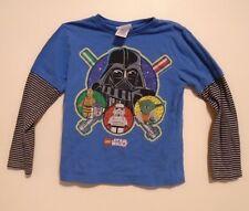 Lego Star Wars Baseball Long Sleeve T-Shirt - Yoda, Darth Vader, Robots - Small