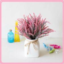 Romantic Provence Lavender Flower Vase for Home Décor Artificial Flowers Grain