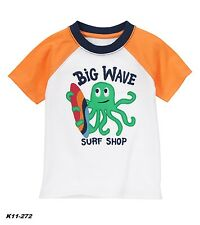 Gymboree Rock The Waves Big Wave Surf Shop Octopus Tee Size 6 - 12 Months