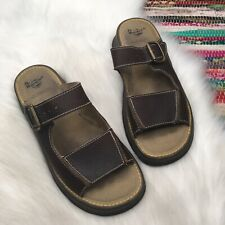 Dr Doc Marten Air Wair Womens Buckle Slide Sandal US 10 UK 8 Brown Leather 8A51