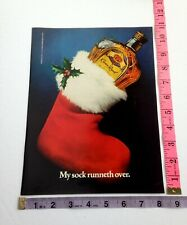 Vintage Ad - Magazine Clipping - Crown Royal Canadian whisky Christmas stocking