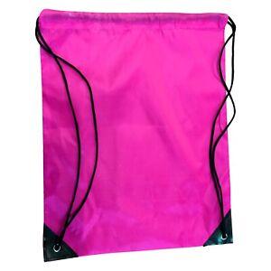 1X Drawstring Bag Polyester Backpack Gym Waterproof School Boxing Sack Swim