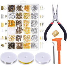 Jewelry Making Kit Supplies Findings Starter Pliers Beading Repair Accessories