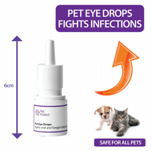 Pet Eye Drops - Cat and Dog Eye Drops - Treats Viral Infections and Soar Eyes