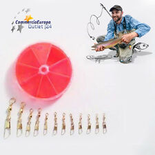 12 CJT SNAP SWIVEL GIRELLE DA PESCA FISHING LAKE DAM GANCI ANTIROTTURA PESCARE