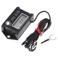 LCD Digital Tachometer Tach/Hour Meter RPM Tester for 2/4 Stroke Engine T0R0