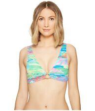 Lauren Ralph Lauren Ikat-Print Keyhole Size 14 Bikini Top