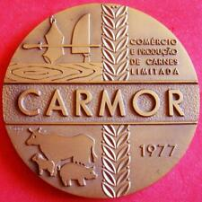 Cattle Animals Bull Cow Lamb Pig Livestock Meat Industry 1977 Bronze Medal!