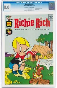 Richie Rich #2 CGC 8.0 Off-white to White with Little Dot & Little Lotta