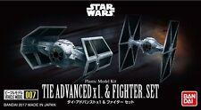 Star Wars Modellbausatz TIE Advanced X1 & Fighter Set von Bandai