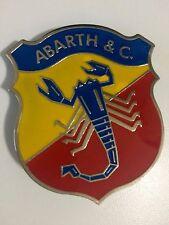 Abarth Fregio stemma 55mm x 60mm (fiat badge emblem sign)