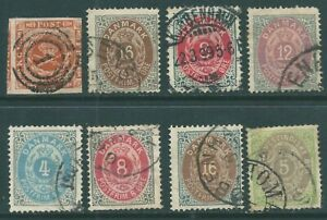 DENMARK early used stamp collection
