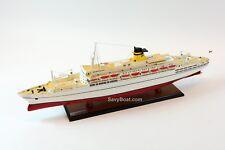 "SS Galileo Galilei Italian Line Ocean Liner Wooden Ship Model 34"" Scale 1:250"