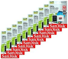 Lot of 10 SANDISK 64GB ULTRA MICROSDHC SD SDHC Class10 UHS MEMORY CARD WHOLESALE