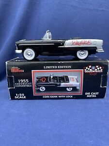 Dale Earnhardt 1955 Chevrolet Convertible Coin Bank 1:25 Scale Die Cast
