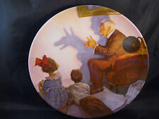 """1987 Knowles """"The Shadow Artist"""" Rockwell Heritage Collector Plate # 4332G"""