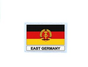 Patch badge iron on glue flag country DD east germany DDR rda