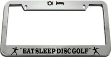 Eat Sleep Disc Golf License Plate Frame Tag Holder