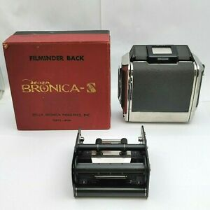 【NEAR MINT w/BOX】 BRONICA Roll Film Back Magazine Holder 6x6 for S From JAPAN