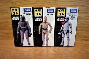 TAKARA TOMY STAR WARS METACOLLE C-3PO , Boba Fett , First Oder S.trooper Set