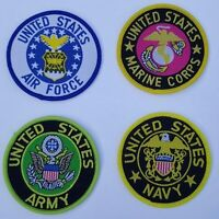 US Military Embroidered Iron On Sew On Patches Transfers Fancy Dress Brand New