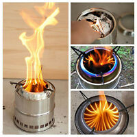 Portable Survival Wood Burning Camping Stove Outdoor Cooking Backpacking BBQs