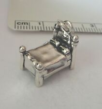 Sterling Silver 3D 15x10x14mm 5 gram Detailed 4 Poster Bed Charm