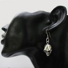 Totenkopf Ohrringe Silber 925er Ohrhänger Sterlingsilber Schädel Skull