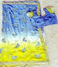 Designer party georgette sequin work saree with stitched blouse L bust 40