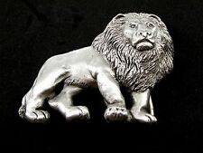 Lion Pewter Belt Buckle by KEV Made in USA 6514 Old New Stock