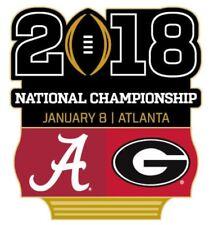 Official 2018 College Football National Championship Game Pin Georgia vs Alabama
