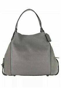 Coach Edie 42 Dark Heather Grey Mixed Leather Shoulder Bag, Style 20334