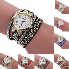 Fashion Womens Girls Crystal Rhinestone Analog Quartz Bracelet Wrist Watches New
