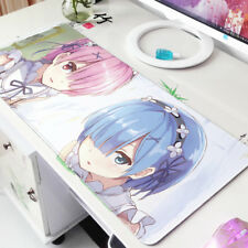 Anime Re Zero Rem Ram Thicken Large Game Mousepad Mouse Pad Mat Playmat 60*30cm