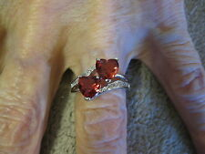 Sterling Silver Double Heart Ring/Size 7/New