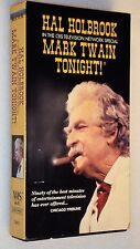 MARK TWAIN TONIGHT! VHS Hal Holbrook One-Man Show 1967 CBS TV Special OOP Video
