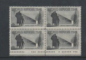 USA - 1960, 4c Black, World Refugee Year Block of 4 - M/m - SG 1148