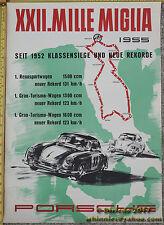 Rare Significant 1955 Factory Porsche Mille Miglia Poster 356 Original Free Ship