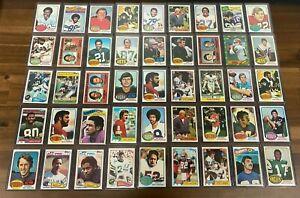 (45) Vintage NFL Stars HOF Football 1970's + 1980's 45 Different Cards Lot