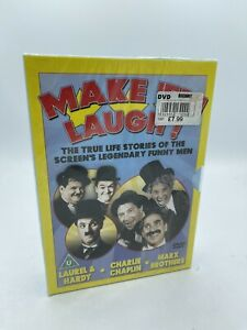 Make Em Laugh-True Life Stor. [DVD] 3 DISC Chaplin / Marx / Laurel Hardy - New