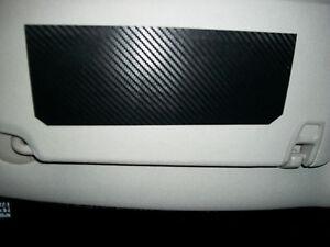 Sun Visor (Carbon Fiber) blackout cover warning label decals overlay pair F I K