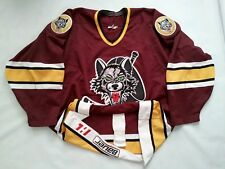 VINTAGE RARE BAUER IHL CHICAGO WOLVES ATHENTIC HOCKEY GAME JERSEY IN SIZE 52