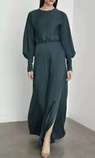 BCBG MAXAZRIA SATIND DRAPED BACK MAXI DRESS SIZE 2 S Small NWT $428