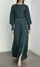 NWT BCBG MAXAZRIA SATIND DRAPED BACK MAXI DRESS SIZE 6 $428