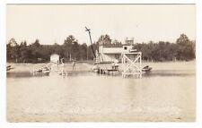 1930s RPPC BRAINERD MN GRAND VIEW LODGE GULL LAKE DIVING DOCK POSTCARD MINNESOTA