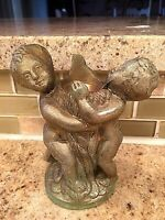 Vintage Cherub lamp parts for crafting or reuse in lamp Cast metal