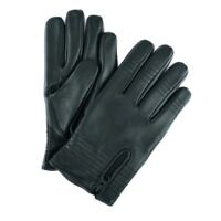 Men Classic style quality Winter Warm Lined Soft Lambskin Leather Driving Gloves