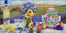 Tuscan Tile Backsplash Paterson Still Life Landscape Ceramic Mural CPA014