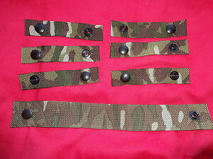 British Army Osprey MK4 / 4A Rank Strap and 6X Attachment Straps - MTP - Grade 1