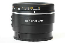 Sony SAL 50mm f/1.8 DT SAM Lens for Sony A Mount Cameras - Great Cond